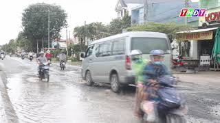 Huyện Cao Lãnh: khổ sở vì đường hư hỏng, hễ mưa là thành ao