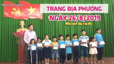 Trang địa phương - Thứ Hai, 26/8/2019 - Thành phố Cao Lãnh